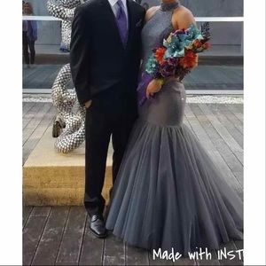 Sherri Hill 51779 Gunmetal Gray Prom Dress